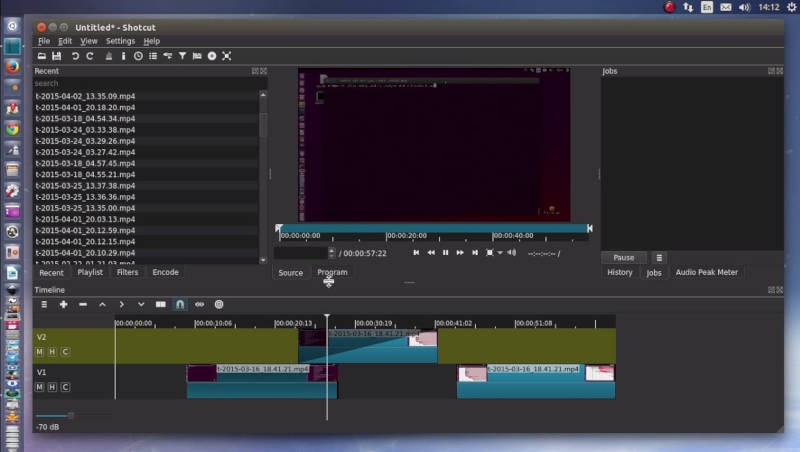 shotcut sous linux ubuntu